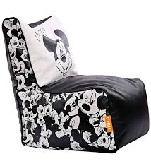 Mickey Mouse Chair Covers Buy Mickey Mouse Kids Bean Bag Cover In Multicolour By Orka Online