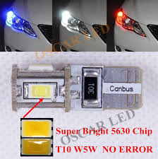 volvo s60 tail light assembly 2 x t10 w5w no error clearance parking front side light led bulb for