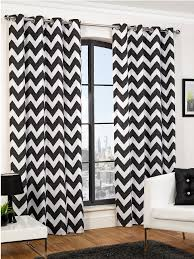 Gray And White Chevron Curtains by Hamilton Mcbride Chevron Printed Lined Eyelet Curtains Window