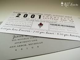Reunion Invitation Card Templates La Rue Louise Typographic Style 10 Year High Reunion