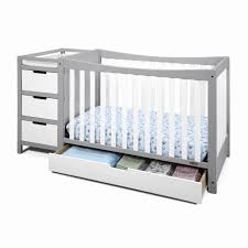 Convertible Cribs With Attached Changing Table Furniture Crib With Changing Table Fresh 4 In 1 Convertible Crib