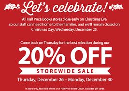 half price gift cards half price books 20 sale storewide