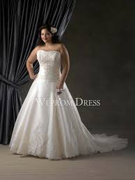 clearance plus size wedding dresses strapless sleeveless ivory lace embroidery zipper