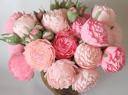 peonies flowers paper flowers paper wedding bouquet wedding bouquets bridal
