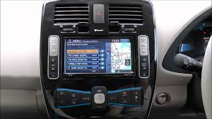 nissan leaf kit car nissan leaf centre console and in car entertainment features youtube