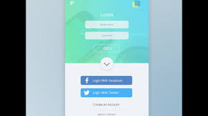 android studio ui design tutorial pdf ui design tutorial in photoshop mobile app login page step by step