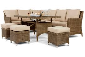 maze rattan winchester venice corner sofa dining set with ice