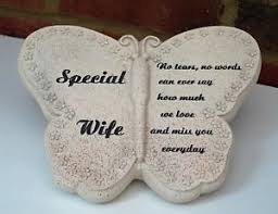 memorial statue special butterfly grave side ornament plaque