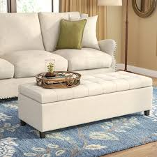 Upholstered Storage Ottoman Coffee Table Darby Home Co Foosland Tufted Upholstered Storage Ottoman