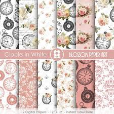 shabby chic wrapping paper shabby chic scrapbook paper vintage digital paper pack