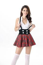 red lattice british students uniforms top women
