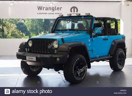 jeep car inside turin italy 7th june 2017 a jeep wrangler mopar one third