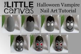 vampire nail art tutorial the little canvas