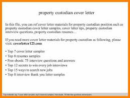 6 custodian cover letter character refence