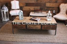 rent 3 crate wide coffee table the crate people