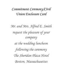 ceremony card wording commitment ceremony free suggested wording by theme geographics
