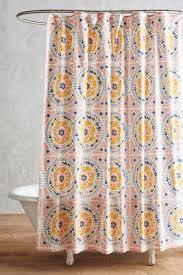 Orange Shower Curtains Tegula Shower Curtain Anthropologie