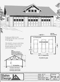 3 Car Garage Plans Oversized 3 Bay Garage Plan 1292 1 By Behm Design Home Ideas
