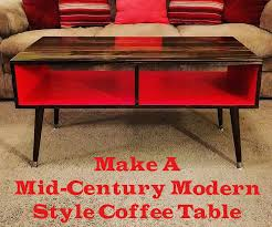 make a mid century modern style coffee table easy u0026 cheap 7 steps