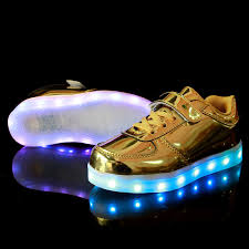 light up shoes for sale kids usb charging light up shoes gold patent leather low tops cheap sale