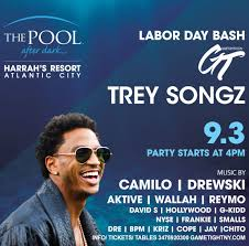 halloween party in atlantic city trey songz u0026 dj camilo ldw harrahs pool party in ac 2017 tickets