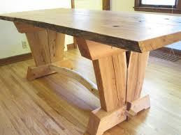 trestle dining table skoglund woodwork