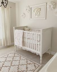 White Nursery Curtains by Neutral White Gold And Blush Pink Nursery Baby Baby Gold