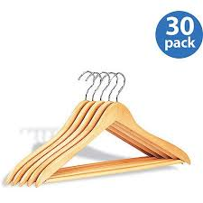 wood hangers w bar 30 pack walmart