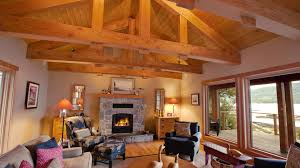 custom home design island timber frame