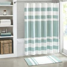 Teal And Brown Shower Curtain Mint Green Shower Curtain Fabric Catherine Holcombe Bonjour Paris