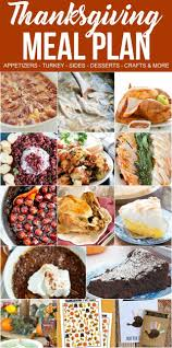 thanksgiving dinner meal plan for crust