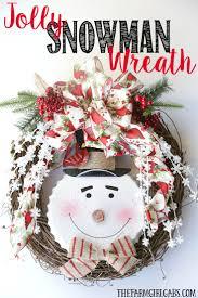 jolly snowman christmas wreath the farm gabs