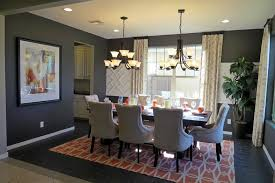 Traditional Dining Room With Travertine Tile Floors  High Ceiling - Dining room tile