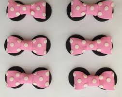 fondant bow and ears etsy