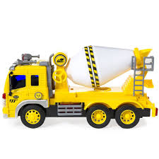 1 16 scale friction powered toy cement mixer truck yellow u2013 best