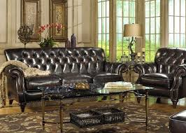 Top Leather Sofas by Brown Top Grain Button Tufted Leather Sofa