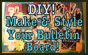 diy make u0026 style a bulletin board roomspiration youtube