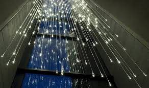 bruce munro s light shower is an ethereal cascade of led lights