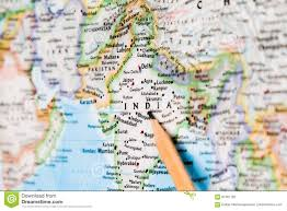 India On World Map Focus On India On The World Map With Pencil Pointing Stock Photo