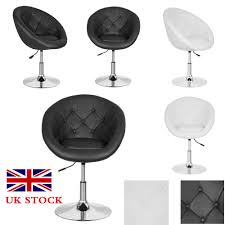 image is loading black white tub chair leather style beauty salon