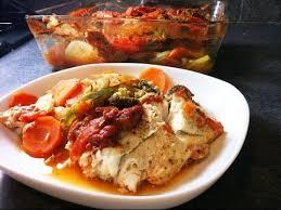 cuisiner filet de colin filet de colin et légumes au four facile