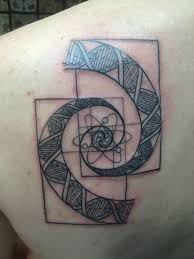 atomo dibujo tatoo dna golden spiral outline by joe shupp of baltimore tattoo