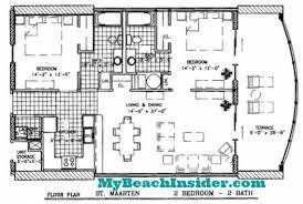 Bathroom Floor Plan by Twin Palms Resort Condo Floor Plans U2013 Panama City Beach