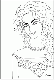 11 pics of beautiful women coloring pages beautiful
