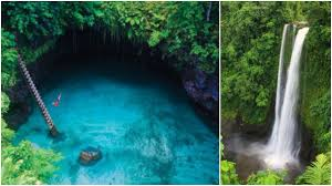 stunning natural swimming pool hidden in a grotto on a volcanic