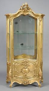 antique display cabinets with glass doors antique display cabinet gilt wood antiques and collectibles