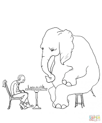elephant coloring pages print adults