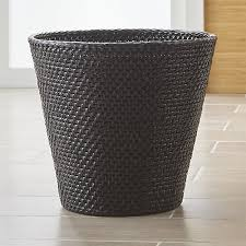 Black Bathroom Trash Can Sedona Black Bathroom Trash Can Crate And Barrel