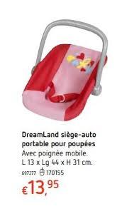 produit siege auto dreamland promotion dreamland siège auto portable pour poupées
