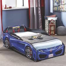 cilek spyder toddler race car bed without mattress blue ebay